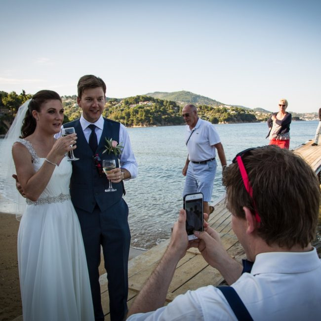 greeting-guests-Skiathos-wedding