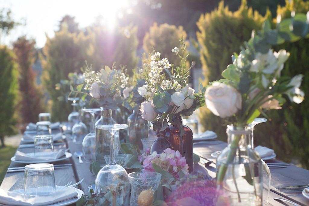 various-bottles-table-wedding-set up